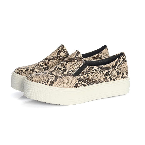 Tênis Slip On Cobra Feminino Fashion Urbano Confort Casual