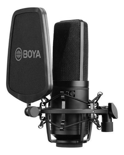 Imagen 1 de 3 de Micrófono Boya BY-M1000 condensador multipatrón negro