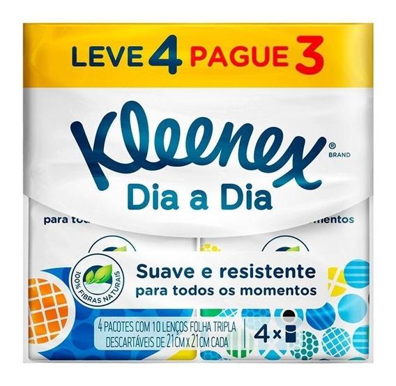 Kit Lenço De Papel De Bolso Kleenex Original Leve 4 Pague 3