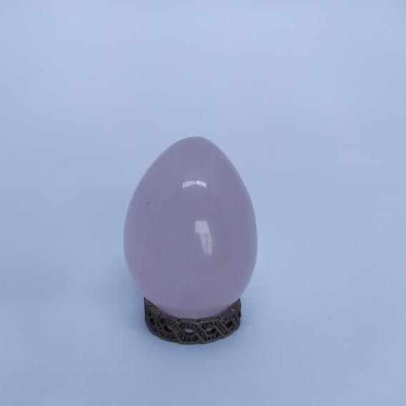 Yoni Egg De Obsidiana + Quartzo Rosa + Cornalina Sem Furo M