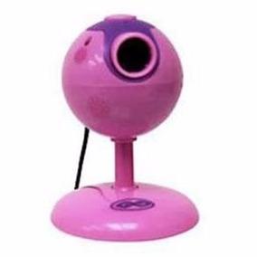 Webcam 3 Em 1 Na Cor Rosa Com Microfone E Conexão Usb