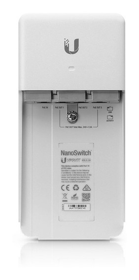 Nanoswitch Ubiquiti Switch Poe Exteriores N-sw Gigabit 4pts