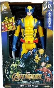 Boneco Wolverine Articulado Musical 30cm Grande Vingadores