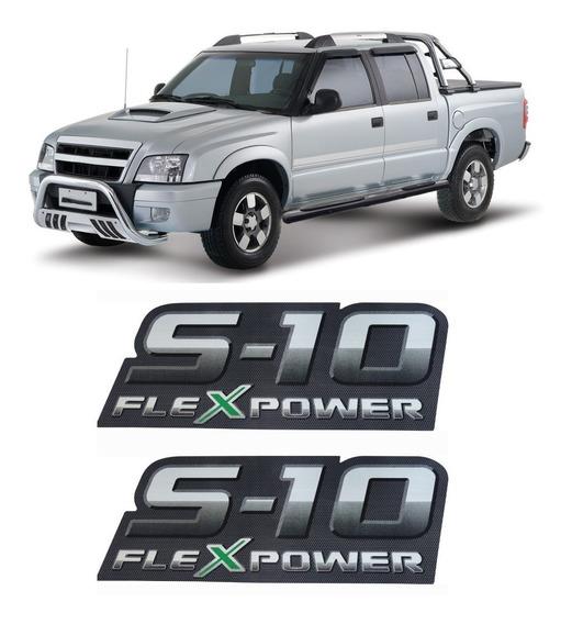 Par De Adesivo S10 Chevrolet Gm Flex Power 2010 2011