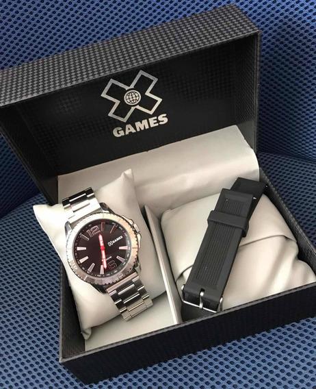 Relógio Masculino Xgames Prata Aço Inoxidável Original