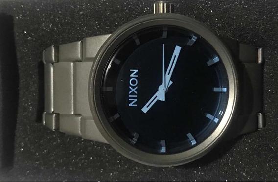 Relógio Nixon Cannon Gun Metal Blue Crystal - Novo