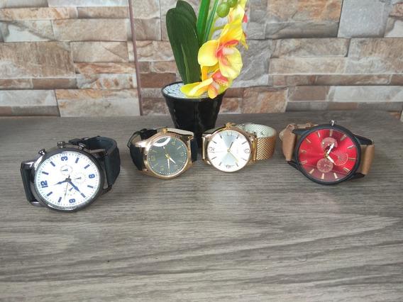 Kit 4 Relógios Masculinos E Femininos Para Revenda Atacado