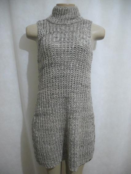 Vestido Lã Malharia Nacional Marrom P Usado Bom Estado