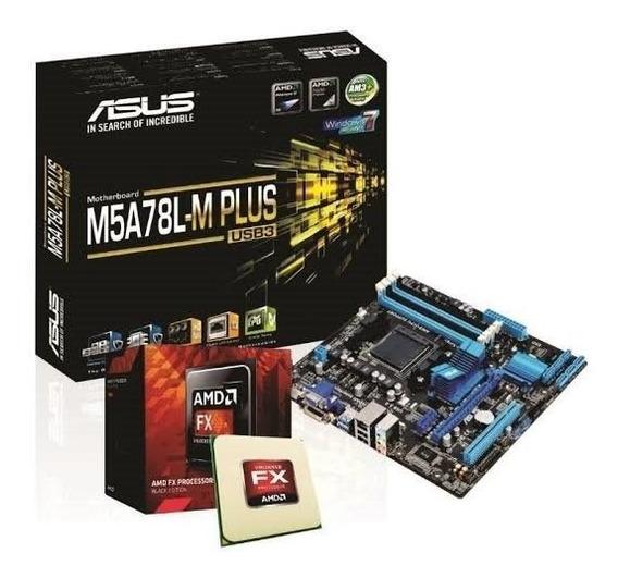 Kit Gamer Placa Mãe Asus M5a78l Usb 3.0 Plus + Fx 6300