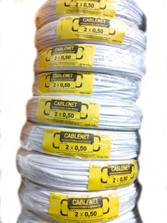 Cable Tipo Taller De 2x0.50mm Chato Cablenet X 100 Mts