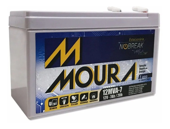 Bateria Gel Selada 12v 7ah - Moura Agm Vrla No-break
