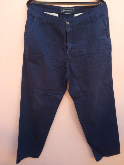 Pantalon Kevingston De Vestir Hombre Azul Recto Talle 48