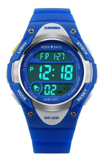 Relógio Skmei 1077 Masculino Ou Feninino Frete Grátis