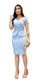 Roupas Femininas Vestido Médio Lycra Modela O Corpo Ref 028