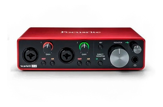 Interface De Áudio Focusrite Scarlett 2i2 3rd Gen Usb Áudio