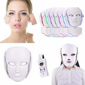 Máscara Estética Facial E Pescoço Fototerapia Luz Led Sete C