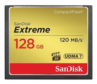 Cartão Memória Sandisk Compactflash Cf 128 Gb Extreme