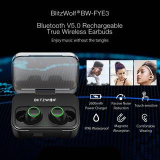 Audifonos Blitzwolf® Bw-fye3 Bluetooth 5.0 Pbank 2600mah