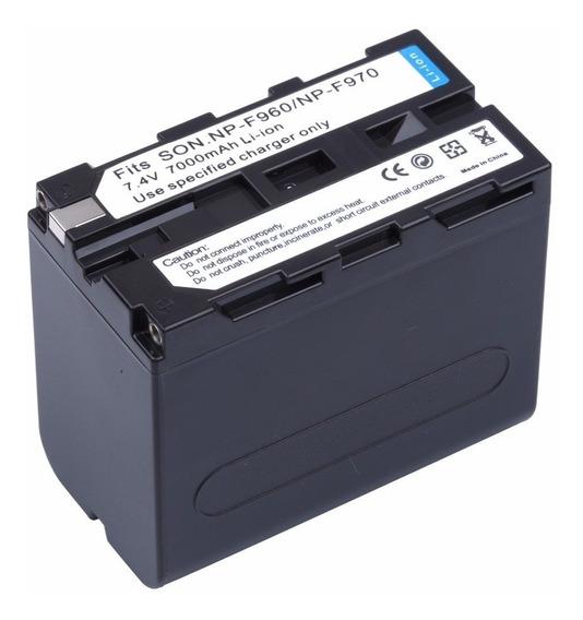 Bateria Np-f970 F960 Iluminador Led 6600mah Yn600 L Yn608