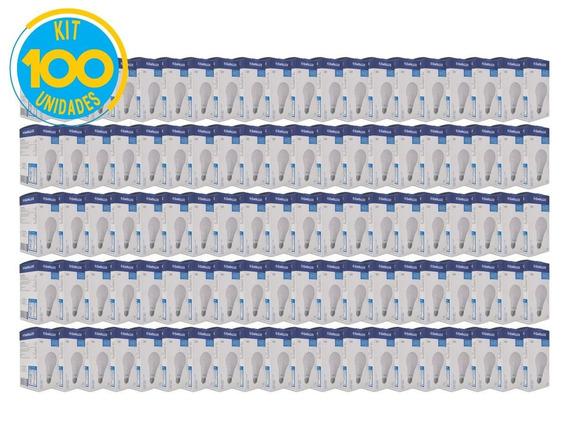 Kit Lâmpada Led 15w 6500k Luz Fria Bivolt Empalux 100 Unid