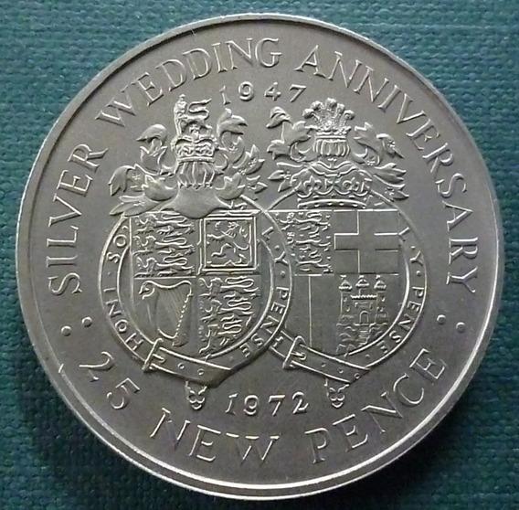 Gibraltar Moneda 1 Crow 1969 Unc Km #4 Castillo