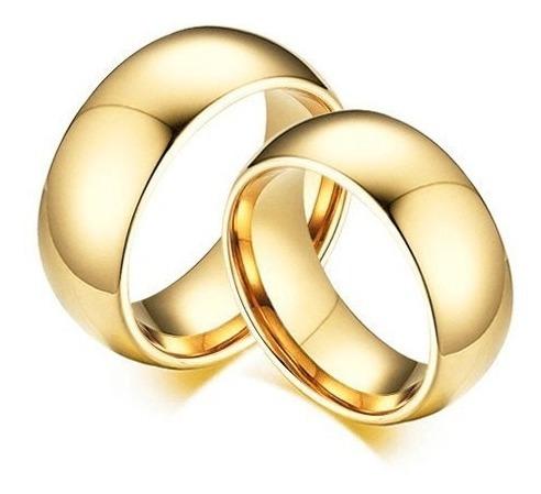 Par De Alianças Em Prata 950 Banhadas A Ouro 18k Tradicional