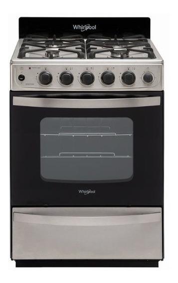 Cocina Whirlpool A Gas Wfx57di 56cm Inox
