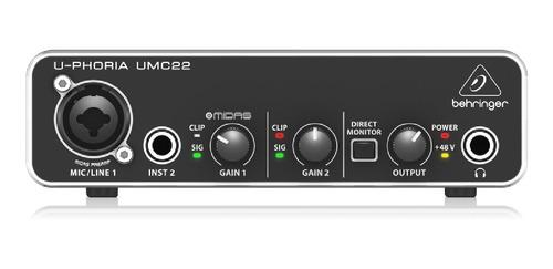 Imagen 1 de 5 de Placa De Audio Behringer U-phoria Umc22