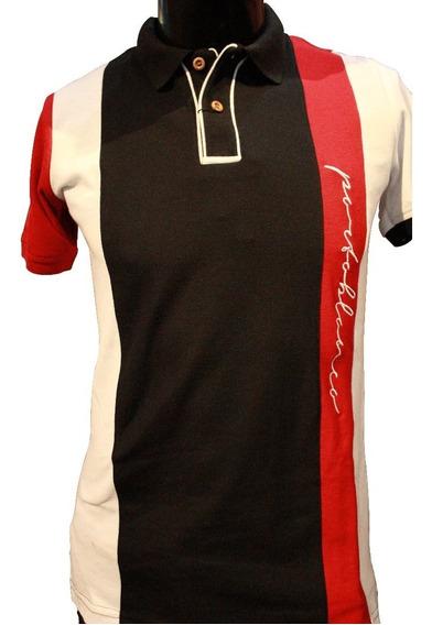 Camisa Portoblanco Tipo Polo Con Botones De Madera (pcto25)