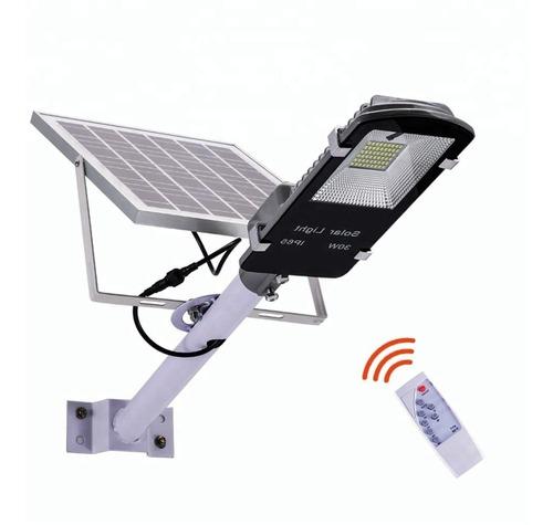 Luminaria Pastoral Solar Led 100w Cn Panel Y Control Remoto