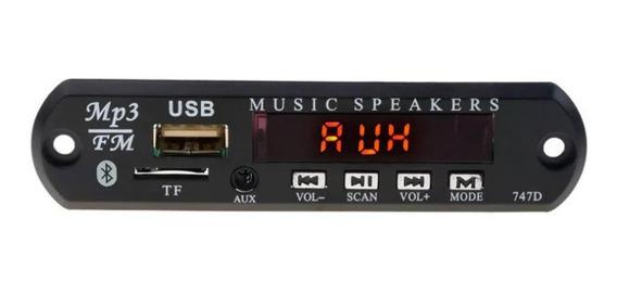 Placa Decodificador Bluetooth Usb Mp3 Aux Fm P/ Amplificador