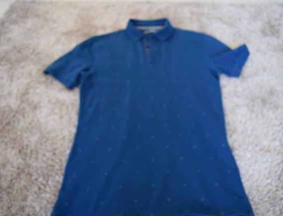 Playera Calvin Klein Azul Cuello Tipo Polo