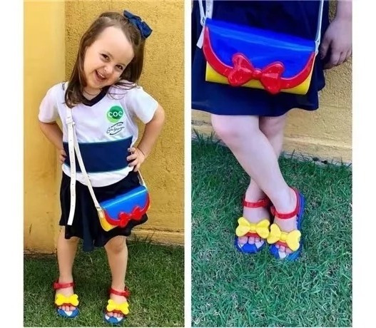 Mini Melissa Bolsa Para Niña Blanca Nieves 3 Colores