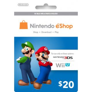 Tarjeta Nintendo Eshop 20 Usd Original Entrega Inmediata