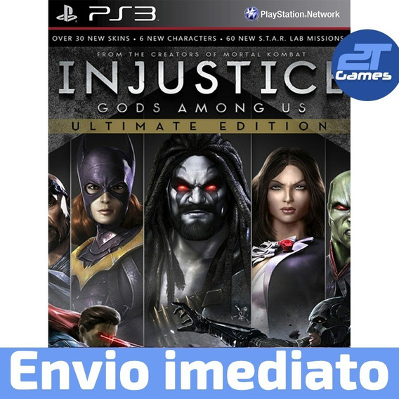 Injustice Gods Among Us Ps3 Psn Midia Digital Envio Rápido