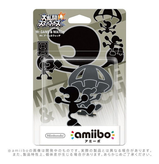 Mr. Game & Watch Amiibo Super Smash Bros Series Jp