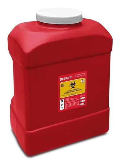 Recipiente Bote Contenedor De Liquidos Rpbi Rojo 7.5 Lts