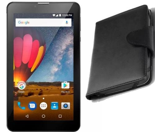 Tablet Preto Celular M7 3g 2 Chips Tela 7 + Case Capa Outlet