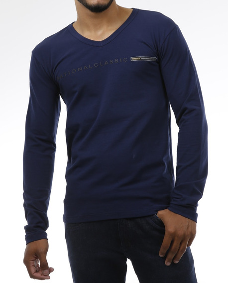 Camisa Camiseta Cottom Slim Fit