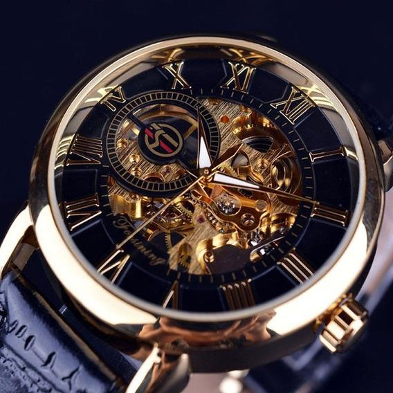 2 Relógios Mecânico Forsining Skeleton, Masculino Novo..