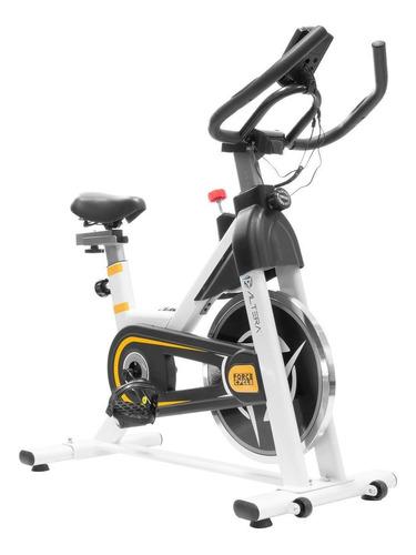 Imagen 1 de 2 de Bicicleta fija Altera Spal ALT550-6 para spinning blanca y amarilla