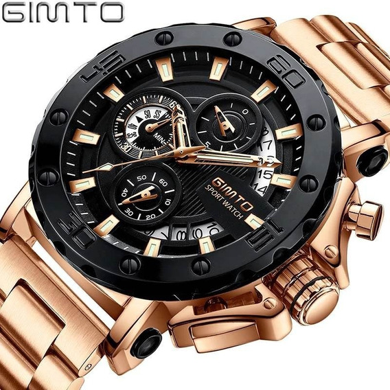 Relógio Masculino Gimto Original Luxo Funcional Robusto