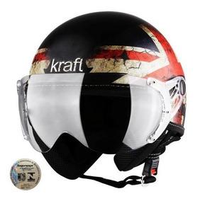 Capacete Aberto Kraft Inglaterra Plus Fosco Original Inmetro