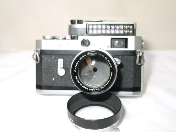 Câmera Filme 35mm Canon P Rangefinder Copia Leica 50mm 1.4