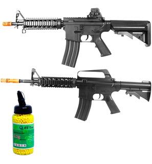 Rifle Airsoft M16ris 160 Fps + Fuzil M4ris Spring + 2000 Bbs