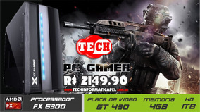 Pc Gamer Amd Fx6300, 4gb Ddr3, Hd 1000gb, Placa De Video Gef
