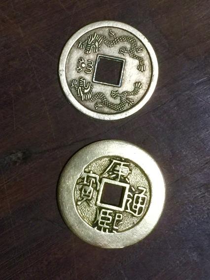 Lote Dos Monedas China Para I Ching