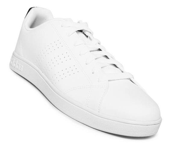 Tenis Casual adidas Advantage Clean Vs Blanco Azul 169081