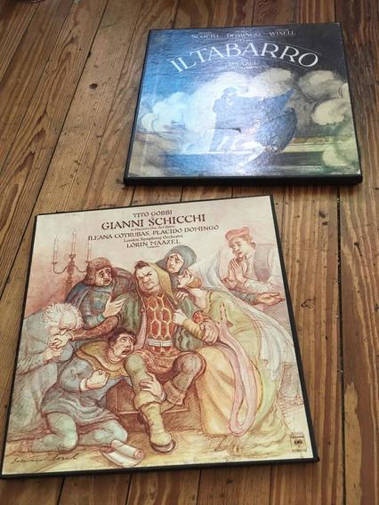 Selector Vinilos Puccini 2 Cajas Opera. Il Tabarro Schichi..