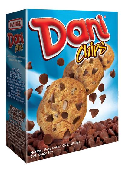 Caja 200g Galletas Dani Chips De Chocolate Por Bulto
